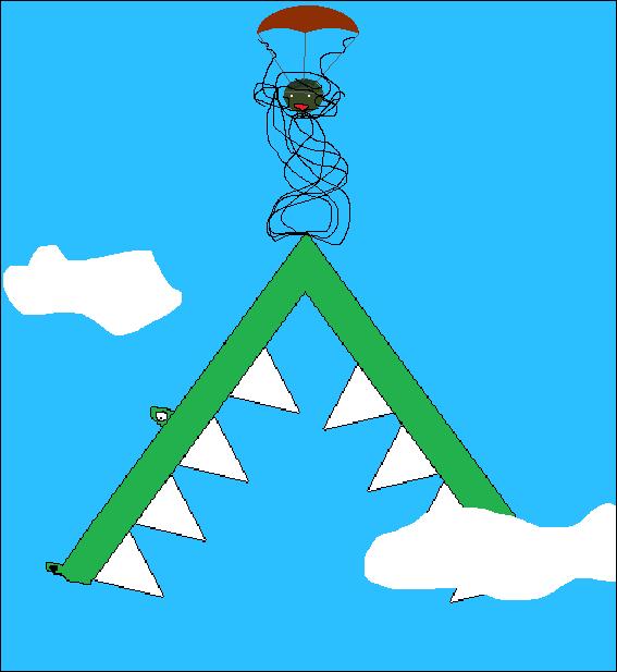 Filler Art: Parachuting