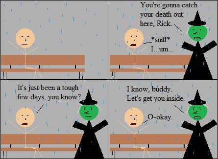 I have no idea why Rick's crying, but this comic makes me really sad.