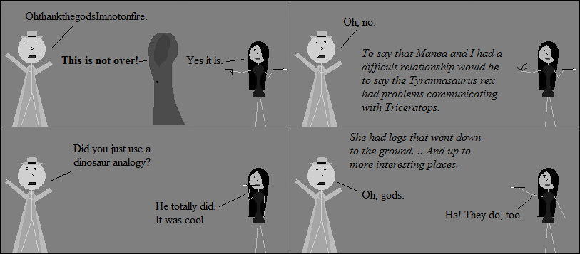I think we glossed over the dinosaur analogy. More comics need dinosaur analogies. Or dinosaurs, period.