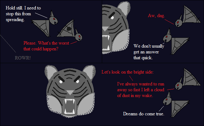 I spent an inordinate amount of time drawing a tiger's face for my stick figure webcomic.