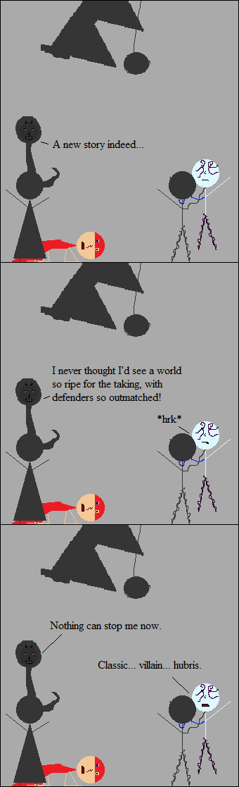 MAYBE Shadow Master could conquer Earth, but he could never defeat Space Pope.